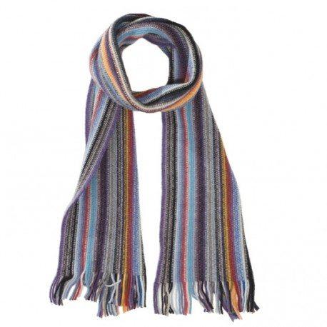 Randig halsduk i blandade färger