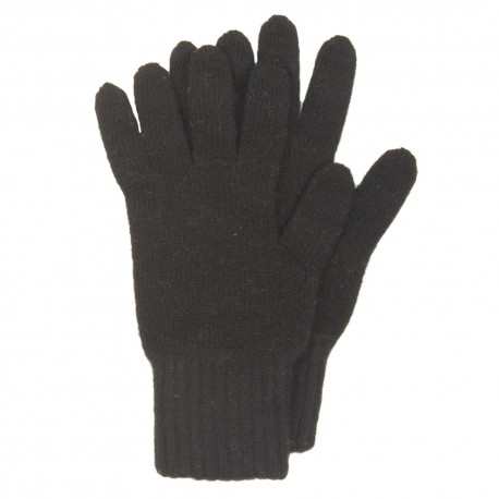 Svarta stickade handskar i lammull