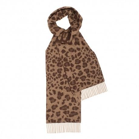 Brun scarf med djurtryck
