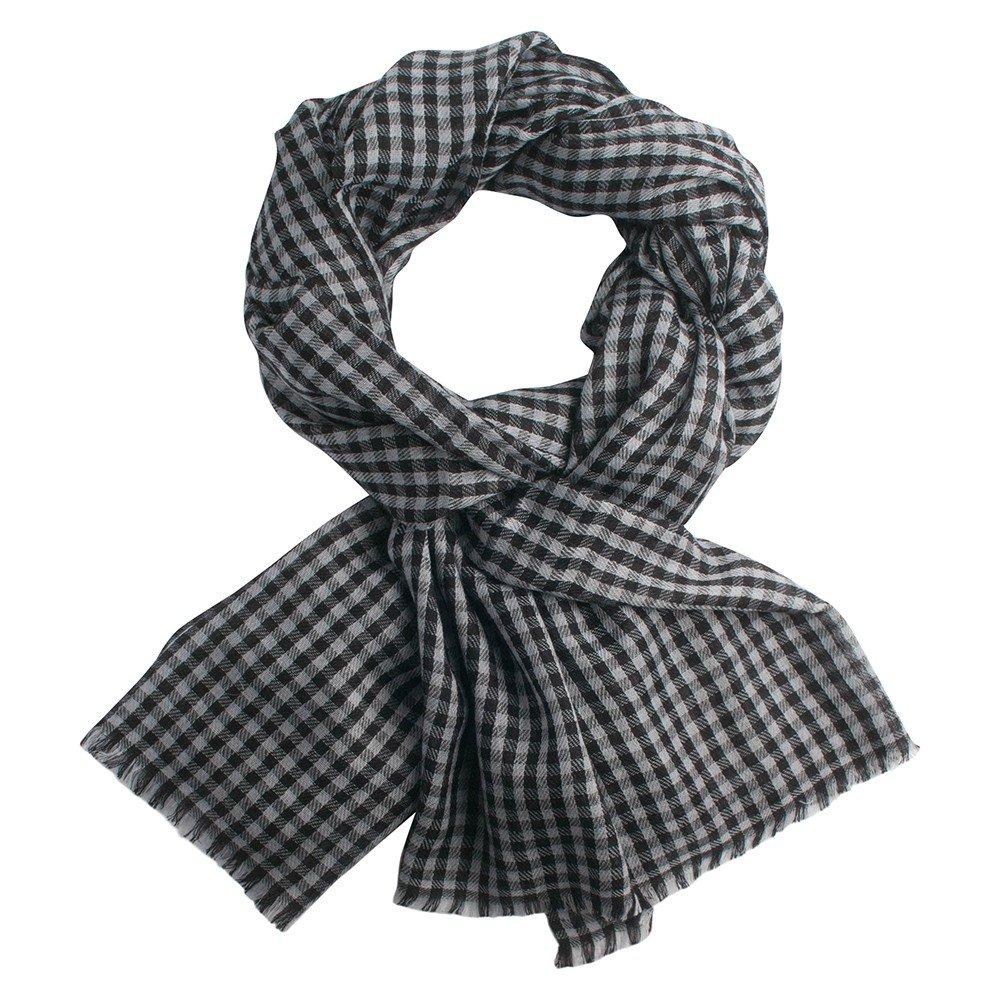Mer info Små rutig pashmina sjal i grå och svart ... 256004c67e843