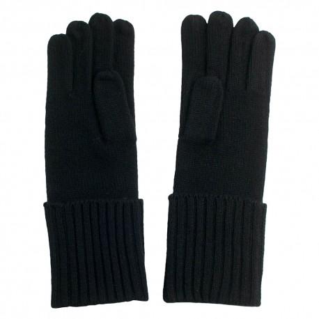 Svarta stickade kashmir handskar