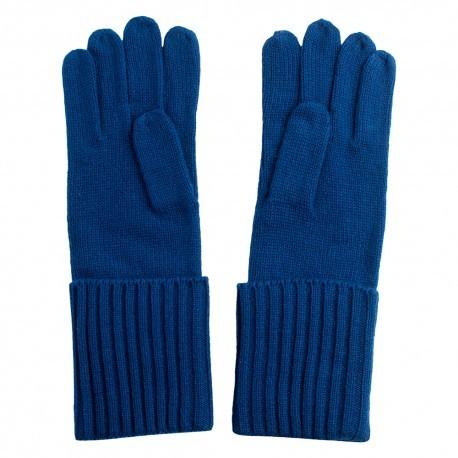 Mörkblå stickade kashmir handskar