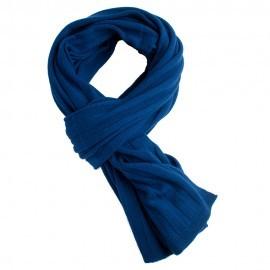 Mörkblå stickad scarf i kashmir