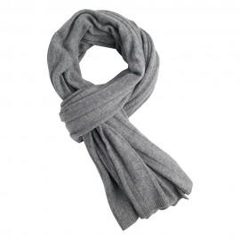 Ljusgrå stickad scarf i kashmir