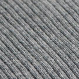 Ljusgrå poncho i stickad kashmir