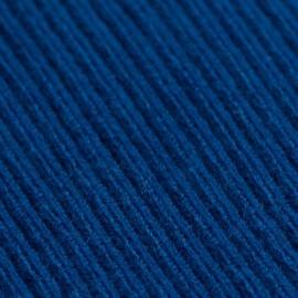 Mörkblå poncho i stickad kashmir