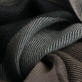 Storrutig pashmina sjal i grönt, karamell, beige och grått