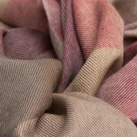 Storrutig pashmina sjal i fyra färger