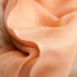 Tvåfärgad pashmina sjal i persiko och creme färg