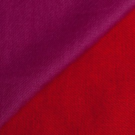 Tvåfärgad pashmina sjal i violett og korall