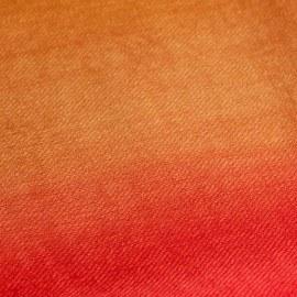 Tvåfärgad pashmina sjal i rött og gyllene