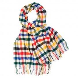 Oversized halsduk i flerfärgade kuber