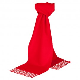 Vinröd scarf i lammull
