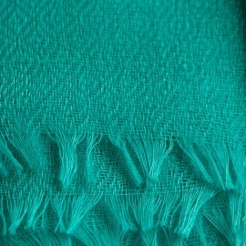 Turkosfärgad diamantvävd pashmina sjal