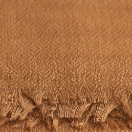 Karamellfärgad pashmina sjal i diamantkypert