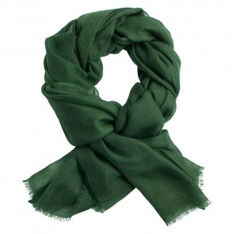 Armygrön pashmina sjal i 2 ply kashmir