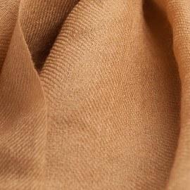 Karamellfärgad pashmina sjal i 2 ply twill