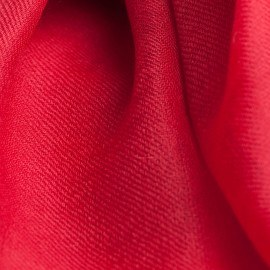 Tranbärsröd pashmina sjal i 2 ply twill