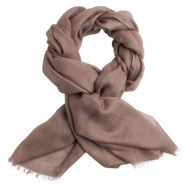 Gråbrun pashmina sjal i 2 ply twill