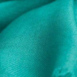Turkosfärgad pashmina sjal i 2 ply kypertbindning