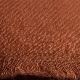 Kastanjebrun kypertvävd pashmina halsduk