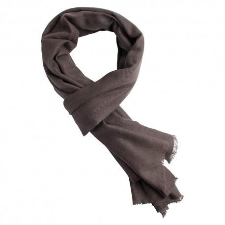 Musgrå pashmina halsduk i kashmir