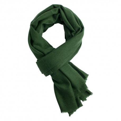 Armygrön kypertvävd pashmina halsduk