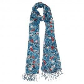 Blå blommig halsduk
