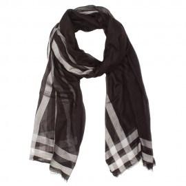 Svart och vit halsduk i kashmir/modal