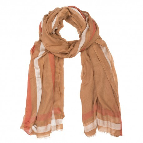 Kashmir/modal halsduk i jordfärger