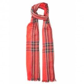 Röd skotskrutig bomull halsduk