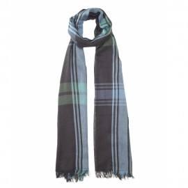 Svart skotskrutig bomull halsduk