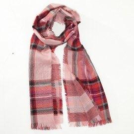 Röd halsduk i ren merinoull
