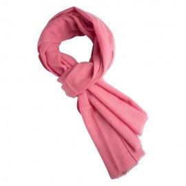 Rosa kypertvävd pashmina scarf