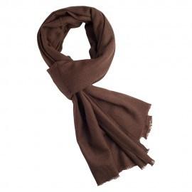 Svartbrun kypertvävd pashmina scarf