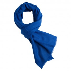 Blå kashmir halsduk