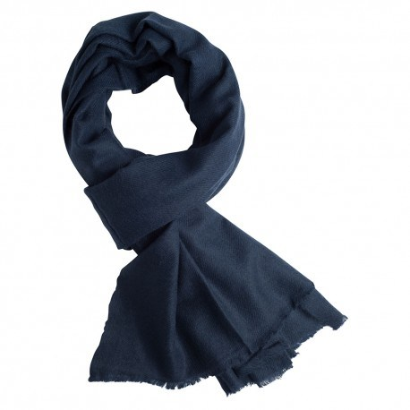 Marinblå kashmir halsduk