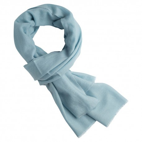Isblå kashmir halsduk