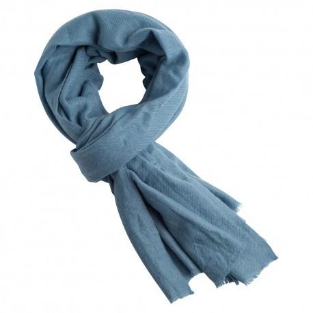 Dueblå kashmir halsduk