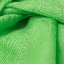 Gräsgrön pashmina sjal i 2-trådigt kypert