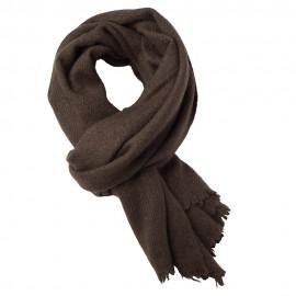 Stor naturbrun jak scarf