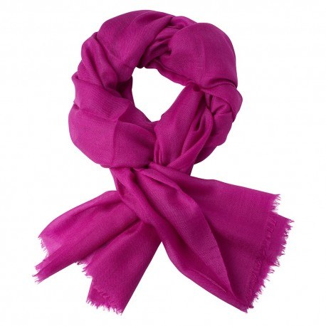 Violett pashmina halsduk i 2-trädigt kypert
