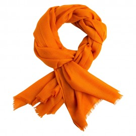 Orange pashmina halsduk vävd i diamantmönster