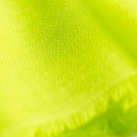 Limegrön pashmina halsduk vävd i diamantmönster