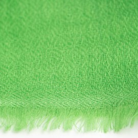 Gräsgrön pashmina halsduk vävd i diamantmönster