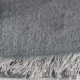 Rutig silke / kashmir sjal i blå färger