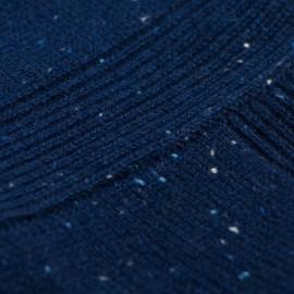 Blå flecked poncho i kashmir