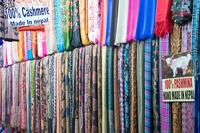 Pashmina scarfs i Nepal